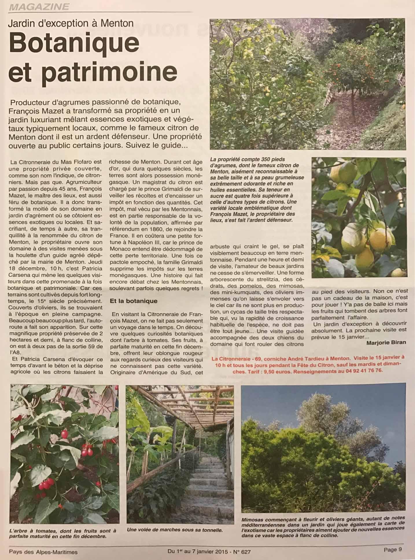 C Maison Et Jardin Magazine press / partners – la citronneraie